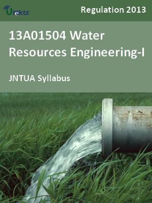 Water Resources Engineering-I - Syllabus