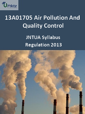 Air Pollution And Quality Control - Syllabus