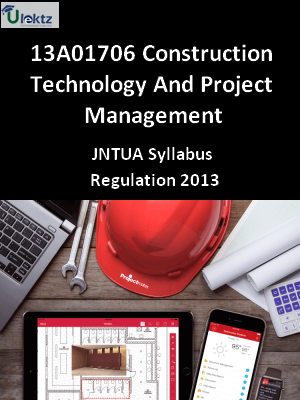 Construction Technology And Project Management - Syllabus