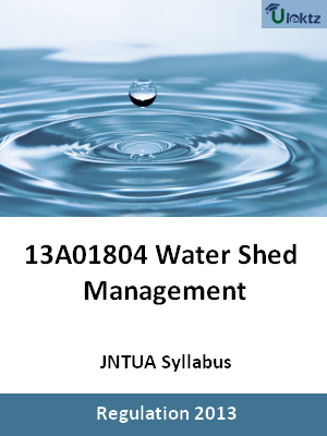 Water Shed Management - Syllabus