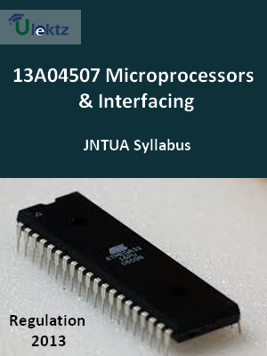 Microprocessors & Interfacing - Syllabus