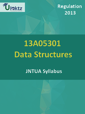Data Structures - Syllabus