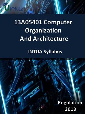 Computer Organization And Architecture - Syllabus