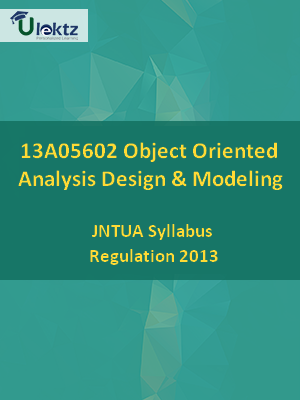Object Oriented Analysis Design & Modeling - Syllabus