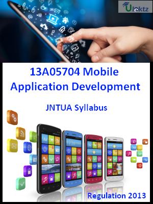 Mobile Application Development - Syllabus