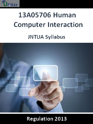 Human Computer Interaction - Syllabus