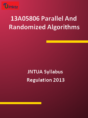 Parallel And Randomized Algorithms - Syllabus