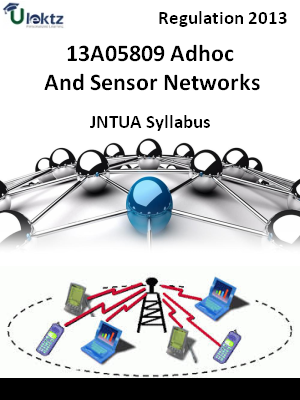 Adhoc And Sensor Networks - Syllabus