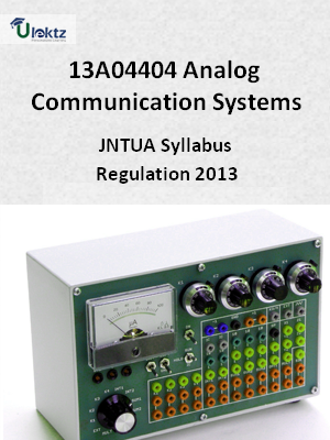 Analog Communication Systems - Syllabus