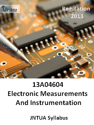 Electronic Measurements And Instrumentation - Syllabus