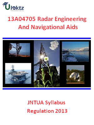 Radar Engineering And Navigational Aids - Syllabus