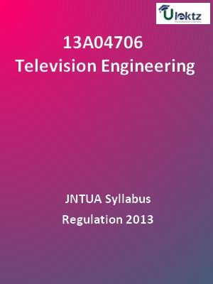 Television Engineering - Syllabus