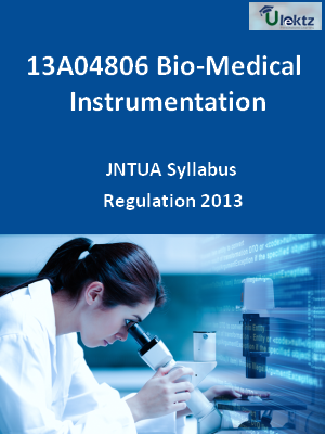 Bio-Medical Instrumentation - Syllabus