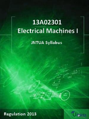 Electrical Machines - I - Syllabus