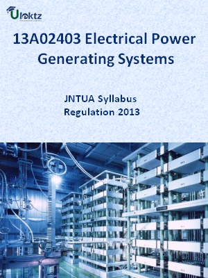 Electrical Power Generating Systems - Syllabus