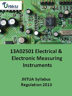 Electrical & Electronic Measuring Instruments - Syllabus