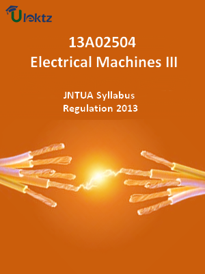 Electrical Machines – III - Syllabus