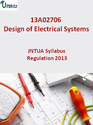 Design of Electrical Systems - Syllabus