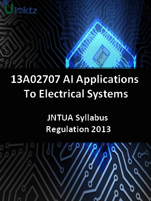 AI Applications To Electrical Systems - Syllabus