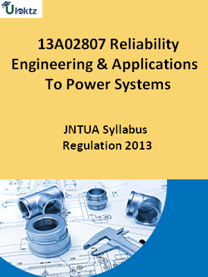 Reliability Engineering And Applications To Power Systems - Syllabus