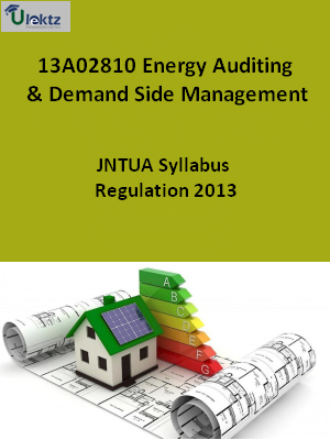 Energy Auditing & Demand Side Management - Syllabus