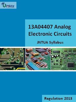 Analog Electronic Circuits - Syllabus