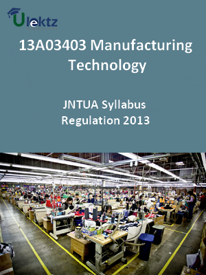 Manufacturing Technology - Syllabus
