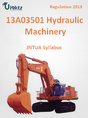 Hydraulic Machinery - Syllabus