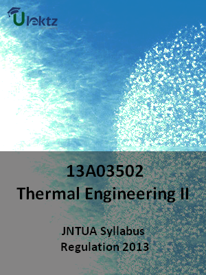 Thermal Engineering – II - Syllabus