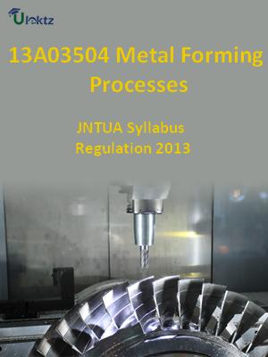 Metal Forming Processes - Syllabus