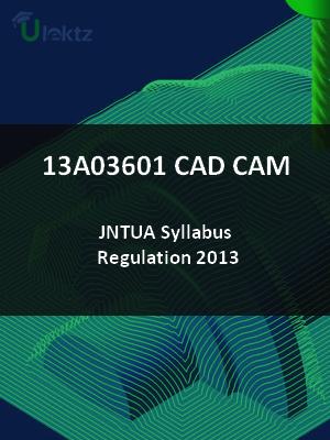 CAD CAM - Syllabus