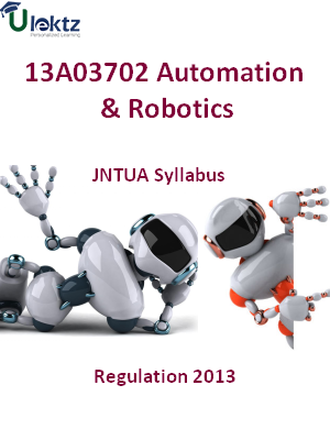 Automation And Robotics - Syllabus