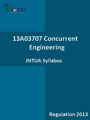 Concurrent Engineering - Syllabus