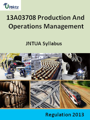 Production And Operations Management - Syllabus