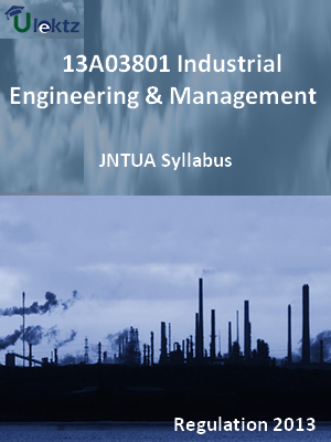 Industrial Engineering And Management - Syllabus