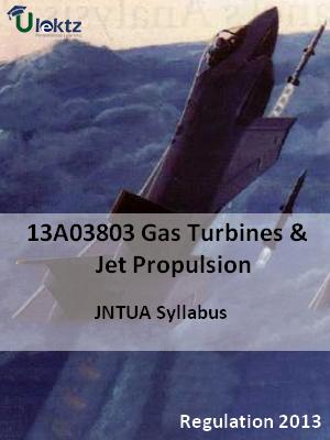 Gas Turbines And Jet Propulsion - Syllabus
