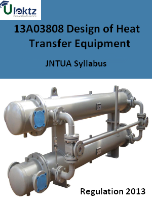 Design of Heat Transfer Equipment - Syllabus