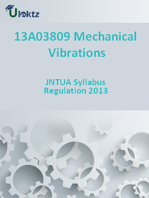 Mechanical Vibrations - Syllabus