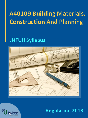 Building Materials, Construction And Planning - Syllabus