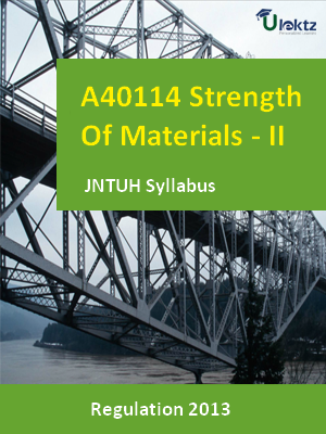 Strength Of Materials - II - Syllabus