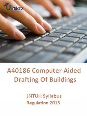 Computer Aided Drafting Of Buildings - Syllabus