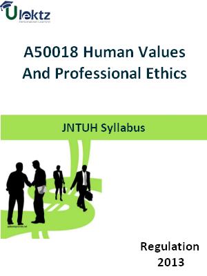 Human Values And Professional Ethics - Syllabus