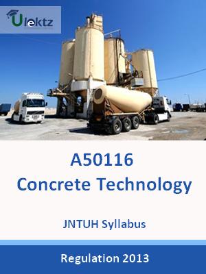 Concrete Technology - Syllabus