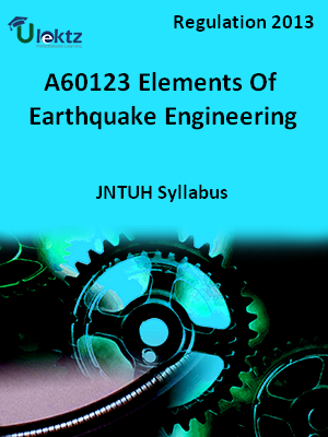 Elements Of Earthquake Engineering - Syllabus