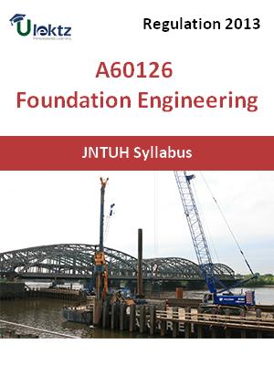 Foundation Engineering - Syllabus