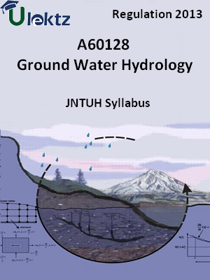 Ground Water Hydrology - Syllabus