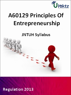 Principles Of Entrepreneurship - Syllabus
