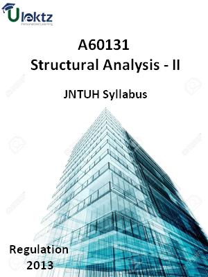 Structural Analysis - II - Syllabus