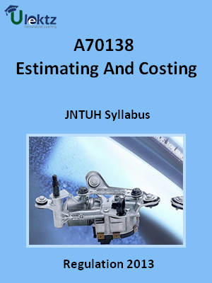 Estimating And Costing - Syllabus