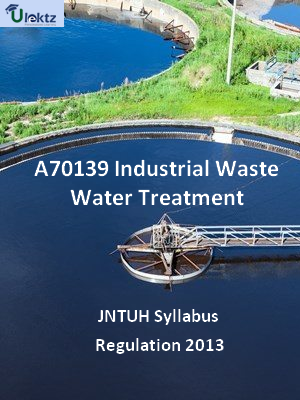 Industrial Waste Water Treatment - Syllabus